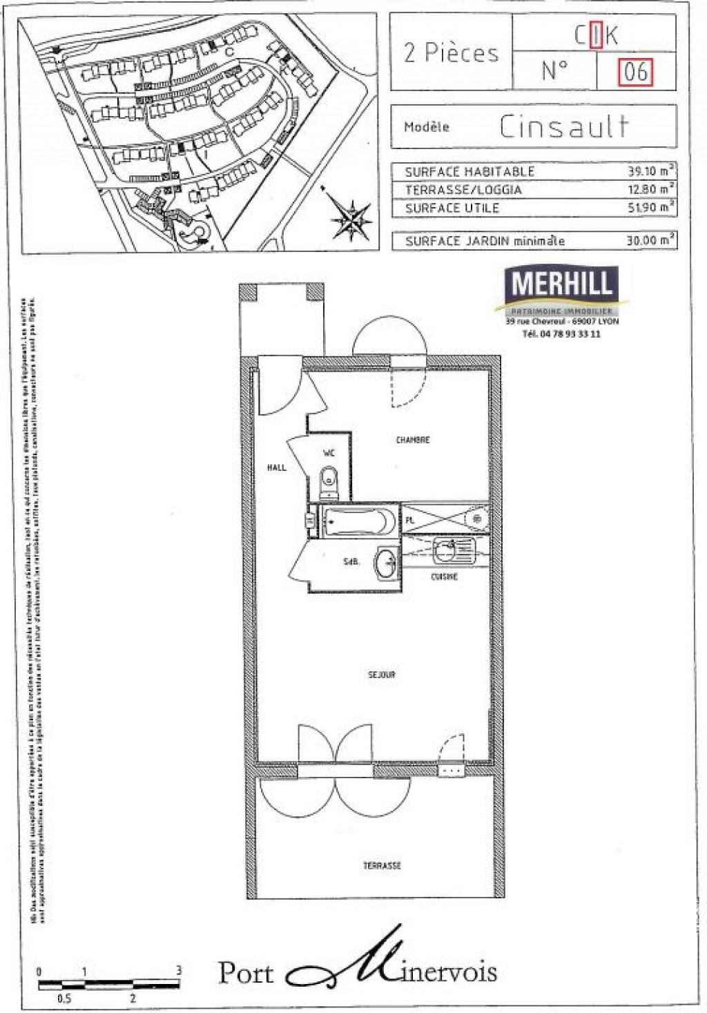 PORT MINERVOIS - Lot I 06 - Plan