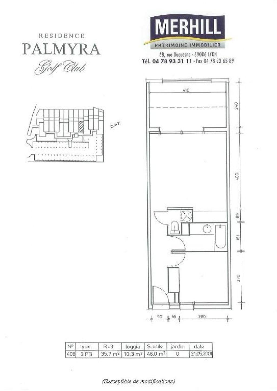 CAP D'AGDE - Palmyra - Plan Lot 408
