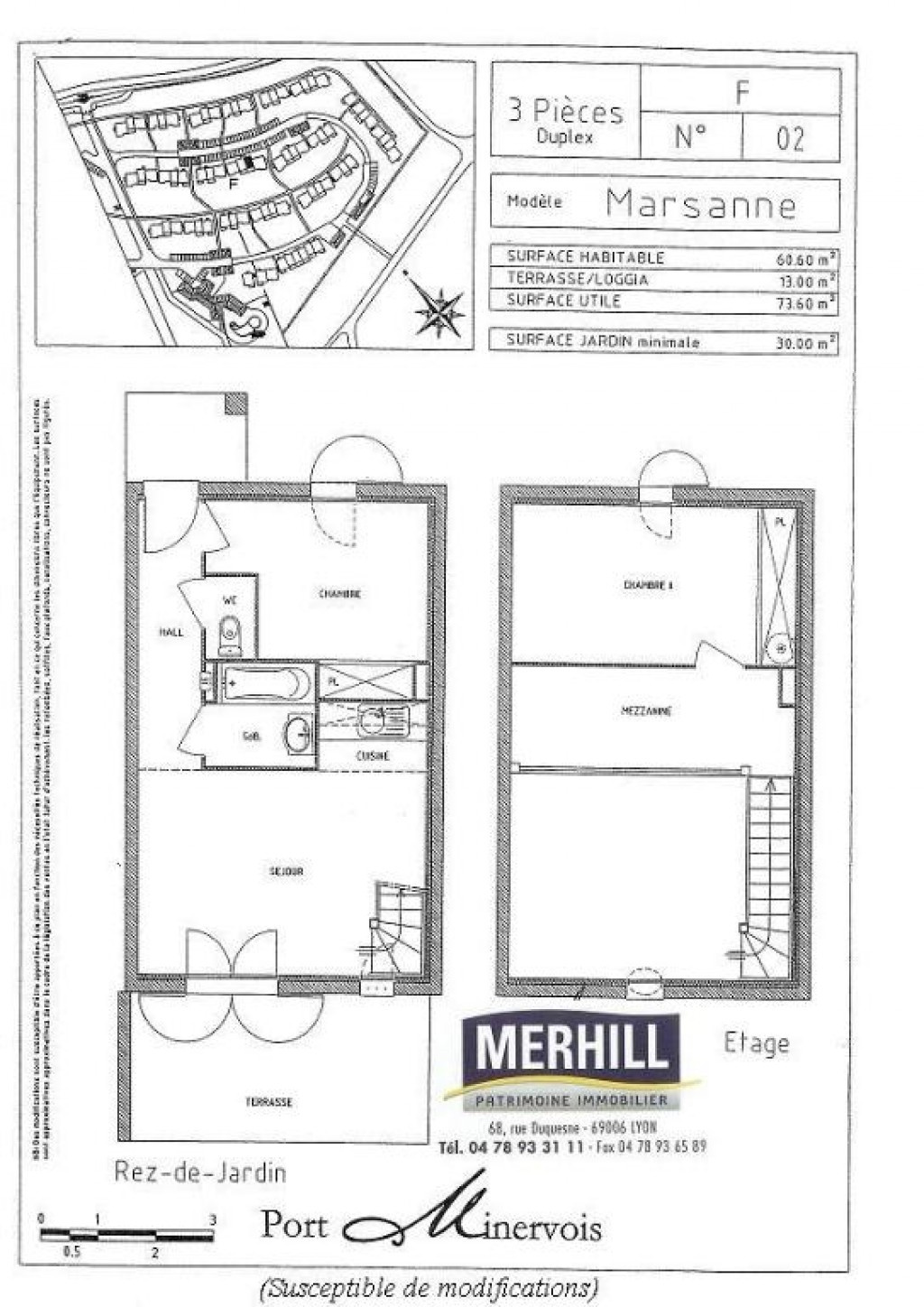 HOMPS - Port Minervois - Plan - Villa Lot F 02