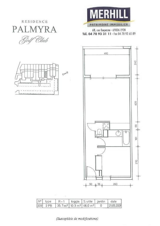 CAP D'AGDE - Palmyra - Plan Lot 209